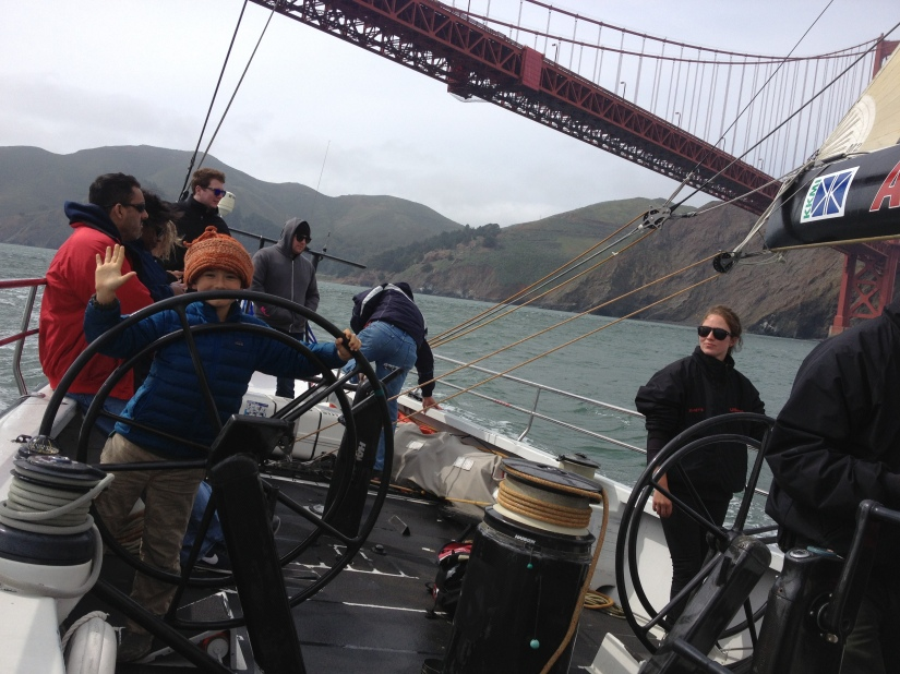 we even let kids drive on America's Cup Yacht USA 76...